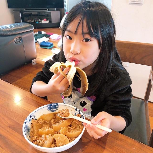 杏ちゃんの朝ご飯です!!
