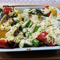 魚焼きグリルで♡野菜のマヨネーズオーブン焼き