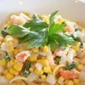 シーフードと野菜のスープパスタ