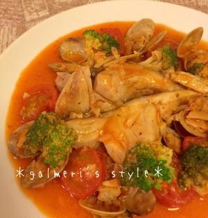 【切り身で簡単*おもてなし】南仏プロヴァンス風♪鱈(たら)のトマトジュース煮込み