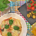 手作りピザ生地と手作りトマトソースで・・Wチーズマルガリータ