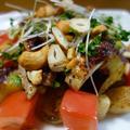 あぶり鶏の温サラダ/ 美味しい白菜漬け