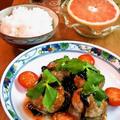 しいたけの肉詰め蒸し ~ スイート・チリのソースがけ by mayumiたんさん