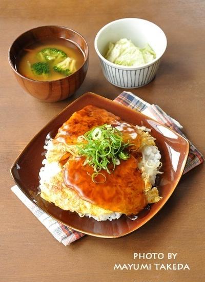 金曜日はラクチンに☆簡単ラクチン天津丼がメインの15分節約献立