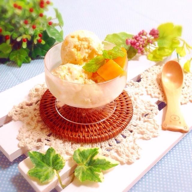 お豆腐アイス♡マンゴー入り♪お好きなアレンジで‼︎