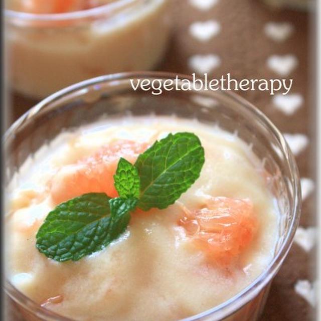 マクロビスイーツ☆グレープフルーツin豆乳ヨーグルトムース