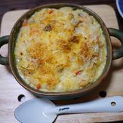 残りご飯で焼きチーズリゾット