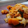味付けは塩のみ!かぼちゃと豚バラ肉とチーズのホットサラダ