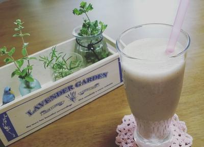 豆乳×はちみつ×チアシード×バナナスムージー☆レシピもあり