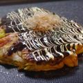 メレンゲにしてつくった ふわふわ海鮮お好み焼き