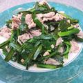 コスパ最高♪マヨ塩胡椒で漬け込んだ柔らか豚こまとニラ炒め