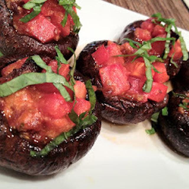 マッシュルームのトマト詰め