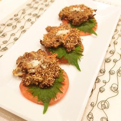 牛肉と根菜の胡麻ガレット