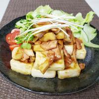 焦がしにんにくの豆腐ステーキのレシピ