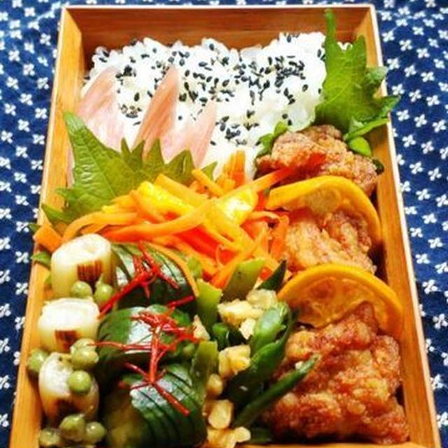 2015/7/9鶏の唐揚げ弁当