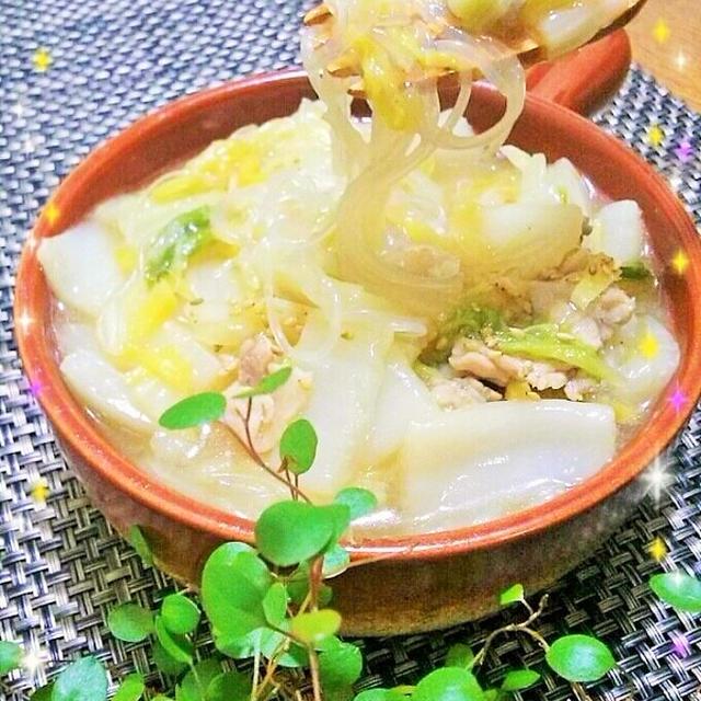 生姜でポカポカアップ!!白菜と春雨のトロトロ煮