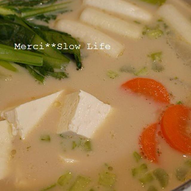 生姜でホカホカ、豆乳鍋&ラーメン