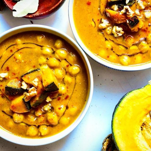 【簡単&栄養満点♪】ひよこ豆とかぼちゃのスープ