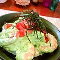 アボカドお好み焼き ~海老にトマトのトッピング♪ 濃厚フレッシュなソースで by mayumiたんさん