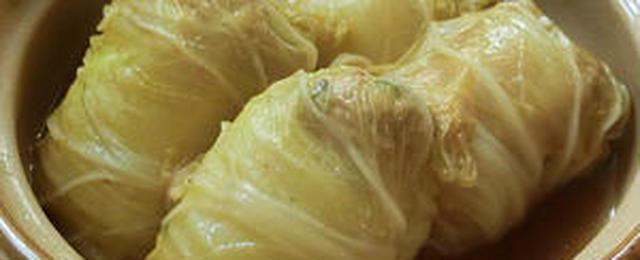 大きな葉っぱで作ってみたい!しみじみおいしい「和風ロール白菜」
