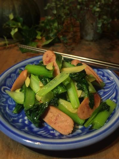 葉っぱを食べよう!小松菜のニンニク炒め♪