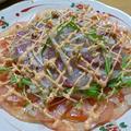 「キムチのタレ」でカンパチの韓国風カルパッチョ