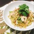 『ささみとパクチーのエスニック風サラダー麺』