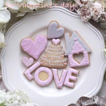 バレンタインのアイシングクッキーレッスン@KOST