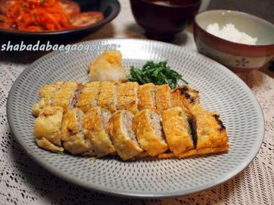 フライパンひとつで簡単☆和風ミートローフおろし添えと人参とトマトのサラダ