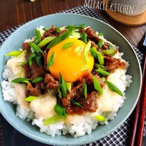 手軽にスタミナアップ!「牛こま」でつくる丼レシピ