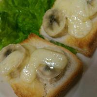 バナナとチーズのトースト~サントリーのんある気分〈白ワインテイスト)