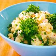菜の花のデリ風ポテトサラダ♪簡単おもてなし春レシピ
