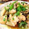 鶏肩肉と海老芋の醤油煮