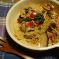 コロコロ野菜とマッシュルームの簡単♪トマトクリーム煮