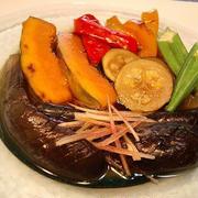 【夏野菜ひんやり煮焼き浸し】‐茄子にジュワッとおダシしみしみ~♪
