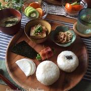和食なプレート朝ごはんとお弁当♪…小さなマブダチ♡