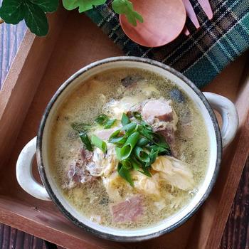 ~サバ缶で簡単~【サバ缶のふわたま生姜スープ】#サバ缶 #スープ #缶詰