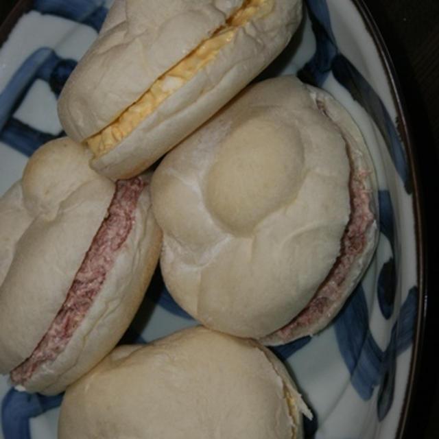 1月11日  白パンの マヨ玉&コンビーフサンド(柏オープン)