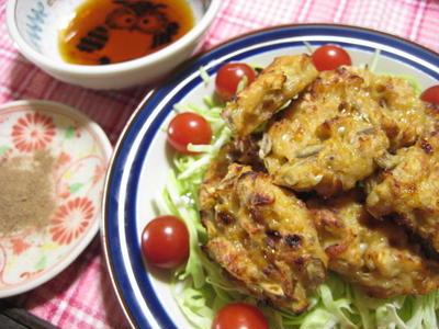 *鶏ひき肉のつくねバーグ