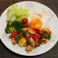 かんたんワンプレの晩御飯☆チキンのハリッサマヨ炒め♪☆♪☆♪