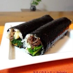 魚が苦手な方におススメ!お肉が主役の太巻き寿司レシピ