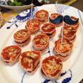 韓国宮廷料理からのアレンジ 〜 柿巻き「コッカムサム」× クリームチーズでオードブル。 by イェジンさん