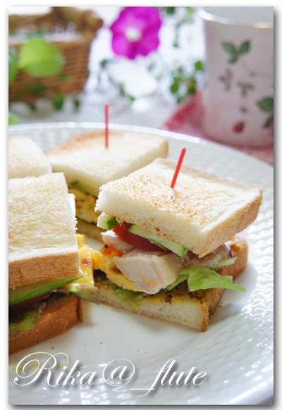 """やわらか塩麹チキンの朝サンドイッチ &""""外苑前アイランドキッチン""""さんのお披露目パーティー♪"""