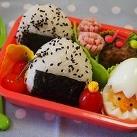 茹で玉ぴよとおにぎり弁当&Wain Cafe omori