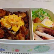おはようございます今朝は暖かい朝です#ババじーさんのお弁当 #えびめし  #イカの煮...