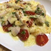 サラダチキンとトマトのとろとろチーズ