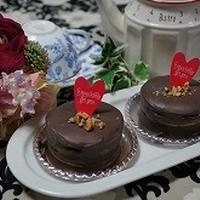 オーブン不要のバレンタインケーキ