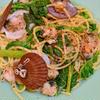 ベビー帆立とかき菜のボンゴレビアンコ