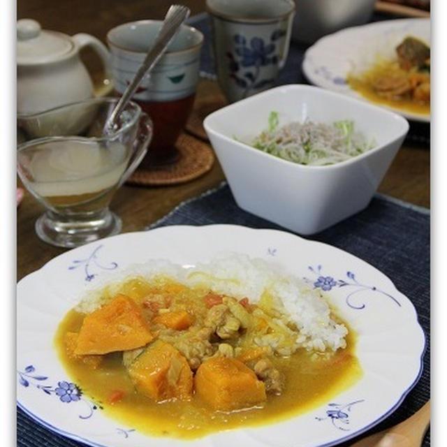 かぼちゃのカレー*土井さんレシピ