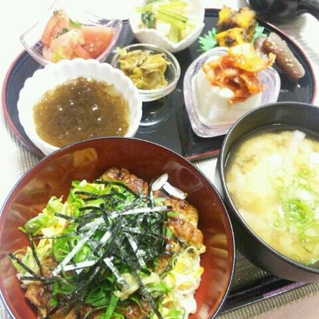 *晩ごはん*~鰻丼 & ひつまぶし~